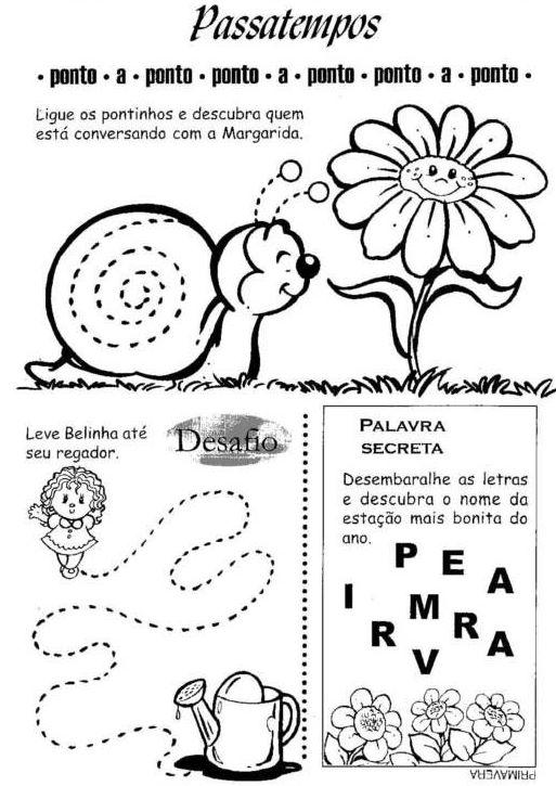 Excepcional Espaço Infantil – Atividades de Primavera para Educação Infantil  NX46