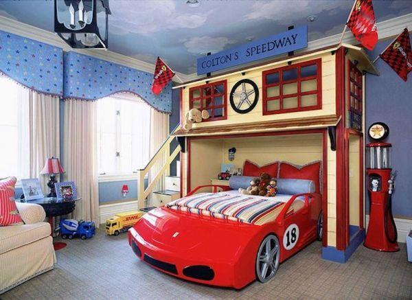 Decoração de quarto infantil masculino tema carros é linda e divertida (Foto: soumae.org)