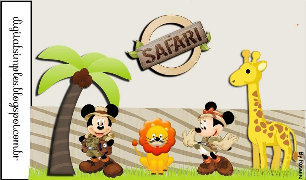 A festa infantil Mickey e Minnie Safari é fofa e desperta a imaginação (Foto: eng.ohmyfiesta.com)