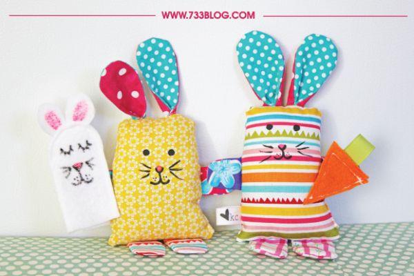 Este simpático coelho infantil de retalhos pode ter o modelo que você desejar (Foto: 733blog.com)