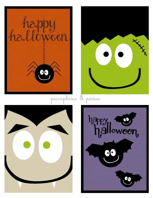 Estes enfeites para festa infantil de Halloween podem decorar qualquer item de sua confraternização (Foto: pumpkinsandposies.com)