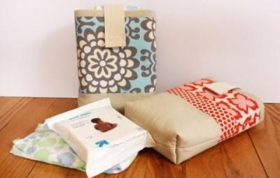Este porta-fralda infantil de tecido pode também possuir cor única (Foto: noodle-head.com)