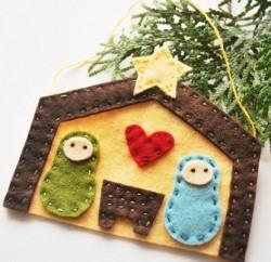 Presépio infantil de feltro é fofo e explica de forma divertida para as suas crianças sobre o período de Natal (Foto: wildolive.blogspot.com.br)