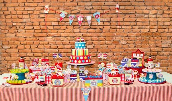 Decoração de Festa Infantil Tema Bombeiros    1