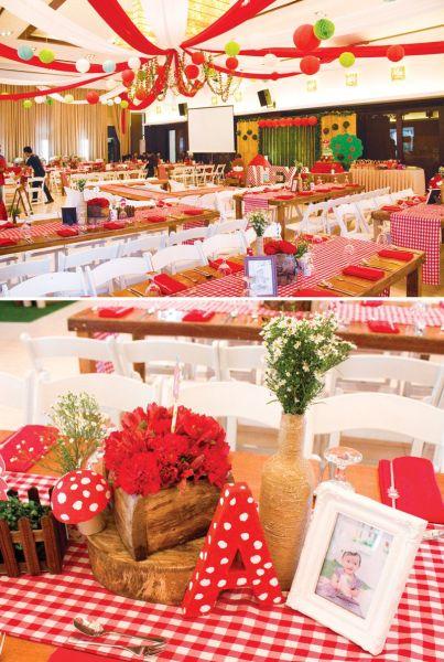 Invista no próximo aniversário de sua filha na decoração de festa infantil tema Chapeuzinho Vermelho (Foto: blog.hwtm.com)