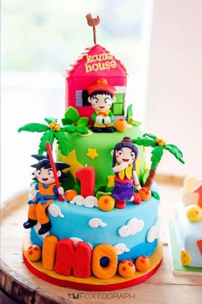 Espa o infantil decora o de festa infantil tema dragon ball for Dragon ball z decorations