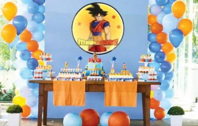Decoração de Festa Infantil Tema Dragon Ball