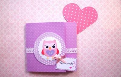 Este fofo convite infantil em scrapbook pode ter o estilo que você desejar (Foto: blog.elo7.com.br)