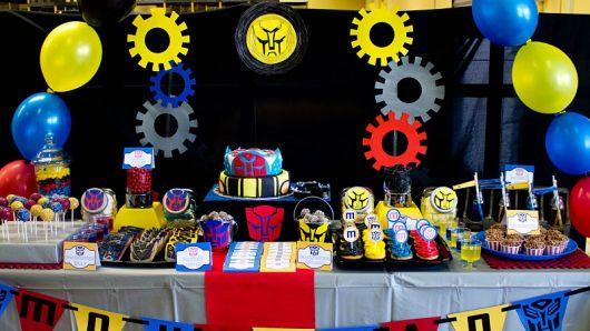– Ideias para Decoração de Festa Infantil Tema Transformers