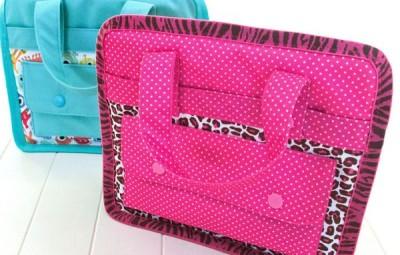 Esta bolsinha infantil de tecido é linda e útil (Foto: sew4home.com)