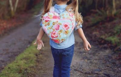 Mochila Infantil de Coração Passo a Passo