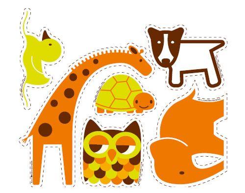 Estes simpáticos bichinhos coloridos decoram e alegram (Foto: lottabruhn.typepad.com)