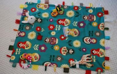 Tapete infantil de tecido pode ter os detalhes que você desejar (Foto: merrimentdesign.com)
