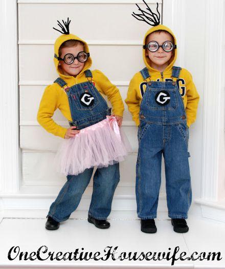 Fantasia infantil dos Minions é fofa e fácil de ser feita (Foto: onecreativehousewife.com)