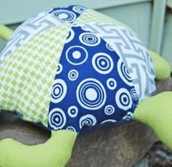 Tartaruga Infantil de Tecido Passo a Passo com Molde - Cópia
