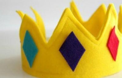 Coroa Infantil de Feltro Passo a Passo