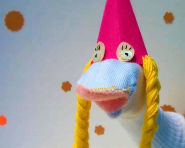 Fantoche infantil de meia é simpático e divertido (Foto: fiskars.com)