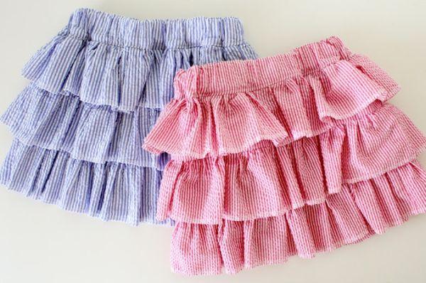 Esta saia infantil de babados é linda e não tão difícil de ser feita (Foto: madeeveryday.com)