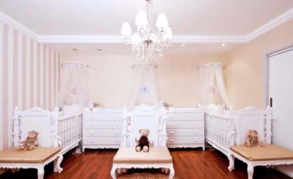 Use a criatividade para montar a decoração infantil de quarto de gêmeas (Foto: pinterest.com)