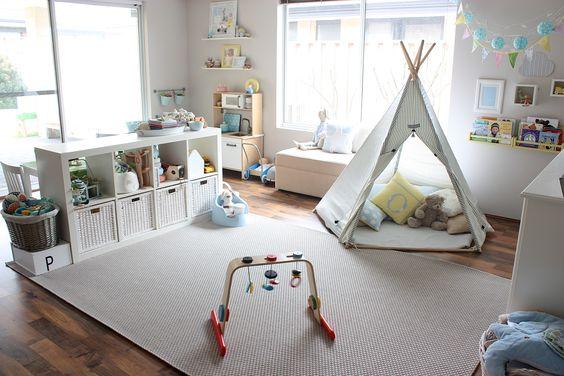 Aposte em elementos diferenciados para a decoração infantil para sala de brincadeira  (Foto: pinterest.com)