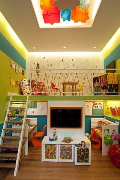 Sala De Tv E Brinquedoteca ~ Espaço Infantil – Decoração Infantil para Sala de Brincadeira