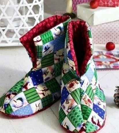 Faça já botinhas infantil de tecido (Foto: cluclu.ru)