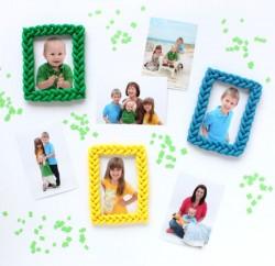 Porta-retrato infantil com argila é lindo e diferente (Foto: linesacross.com)
