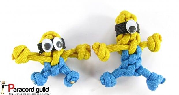 Chaveiro Minions com corda é muito fofo (Foto: paracordguild.com)