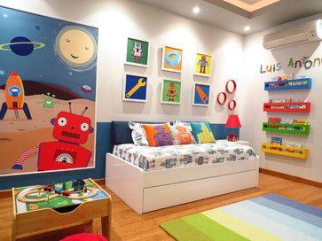 Invista pesado na decoração colorida infantil para quarto (Foto: pinterest.com)