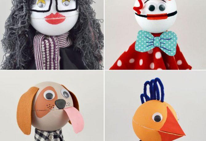Faça vários deste fantoche infantil com materiais simples (Foto: mollymoocrafts.com)
