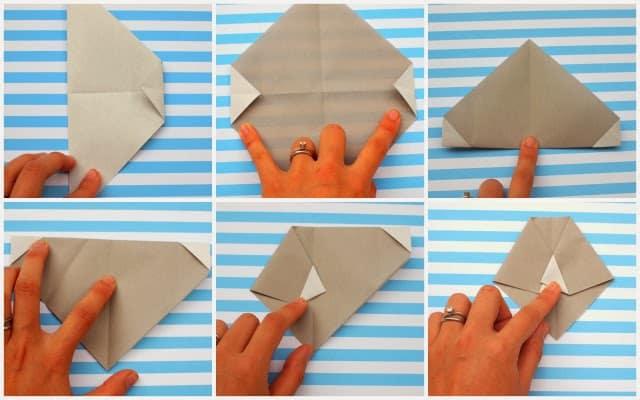 Modelo de Artesanato Infantil com Origami