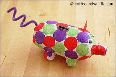 Modelo de Porquinho Cofrinho Infantil