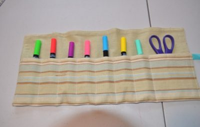 Aprenda como Fazer Porta-Lápis Infantil de Tecido