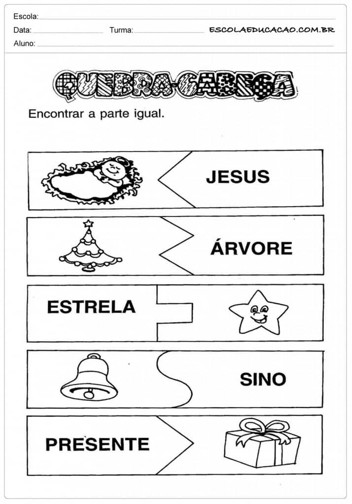 Dicas de Atividades Educação Infantil Natal para Imprimir