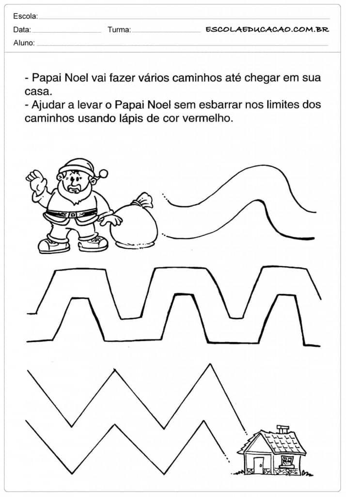 Conhecido Espaço Infantil – Atividades Educação Infantil Natal para Imprimir RZ56