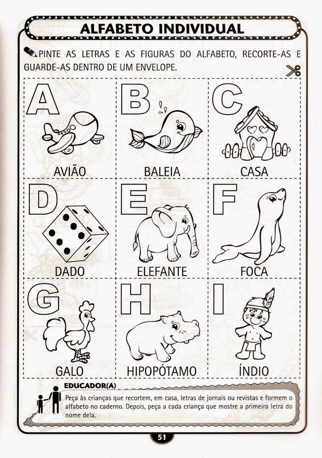 Dicas de Atividades Infantil Alfabetização para Imprimir