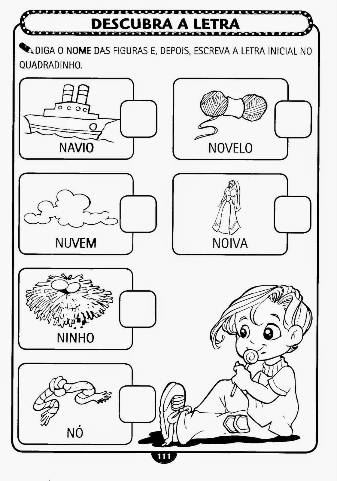 Atividades Infantil Alfabetizacao Para Imprimir