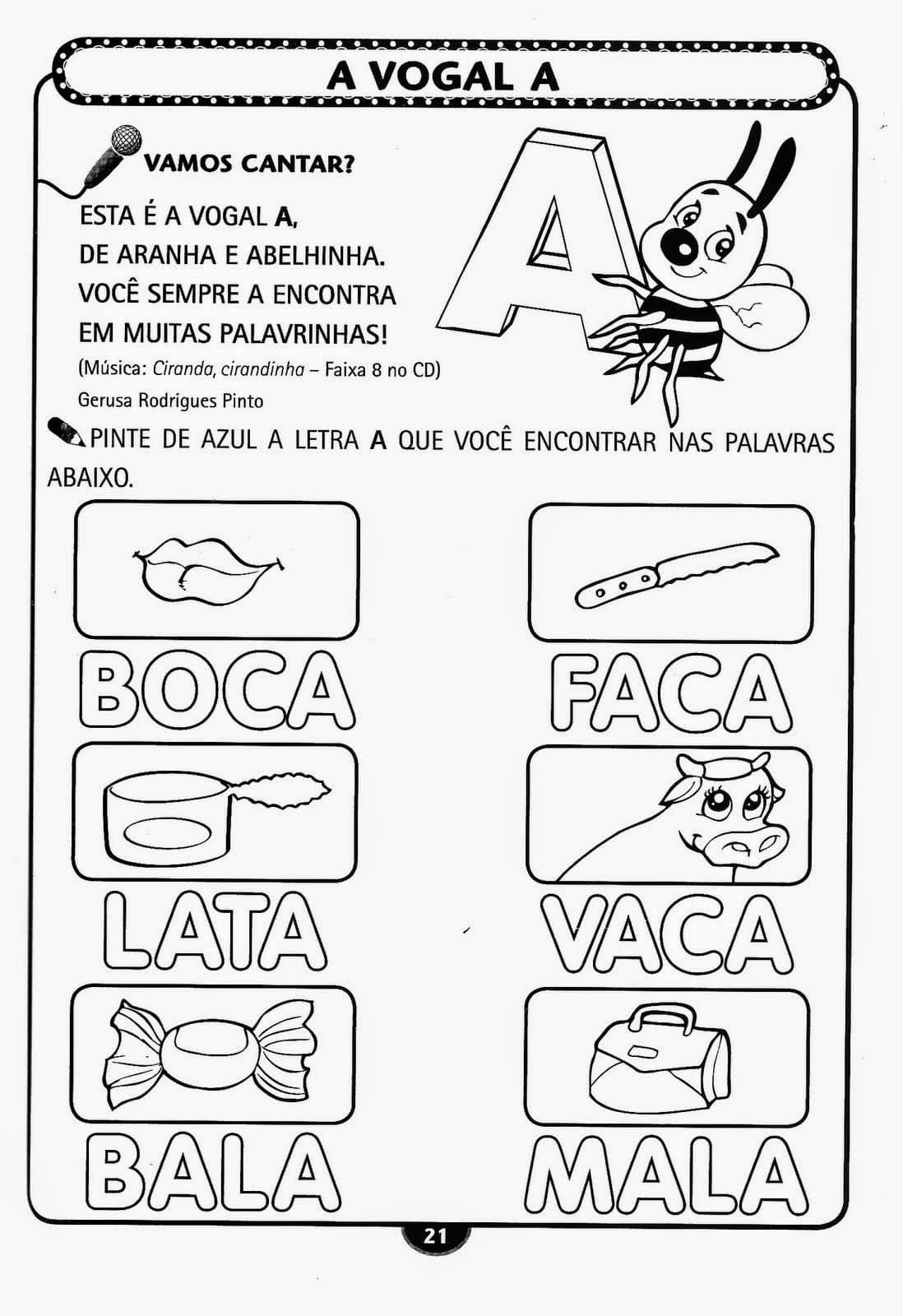 Excepcional Espaço Infantil – Atividades Infantil Alfabetização para Imprimir CS82