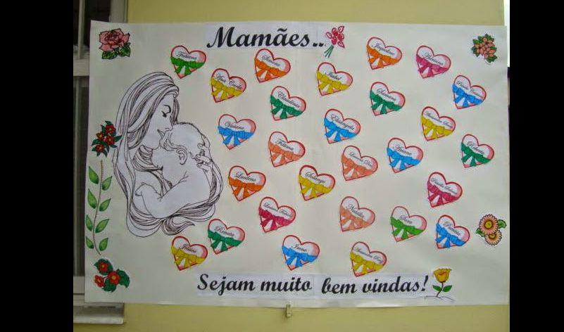 Decoraç u00e3o Infantil para Dia das M u00e3es na Escola -> Decoração De Festa Para O Dia Das Mães Na Escola