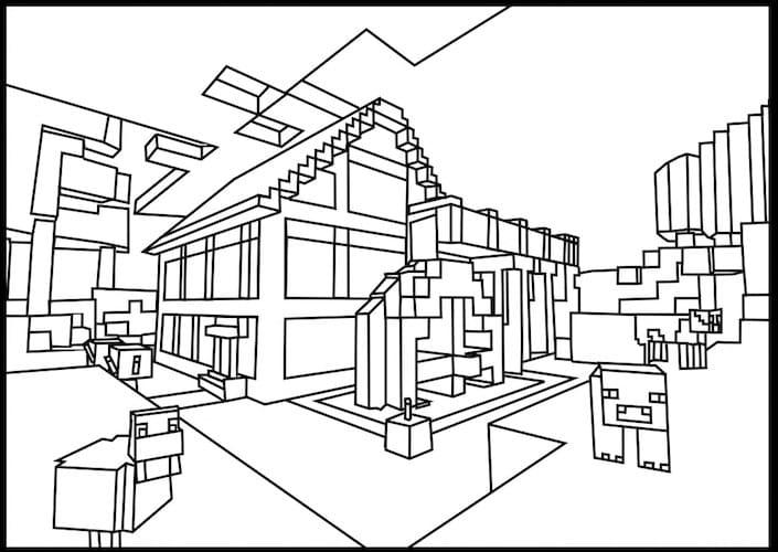 desenhos do minecraft imprimir