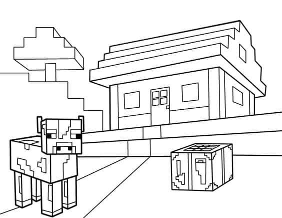 desenhos do minecraft para imprimir e montar