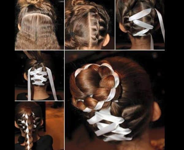 como fazer penteado com trança infantil