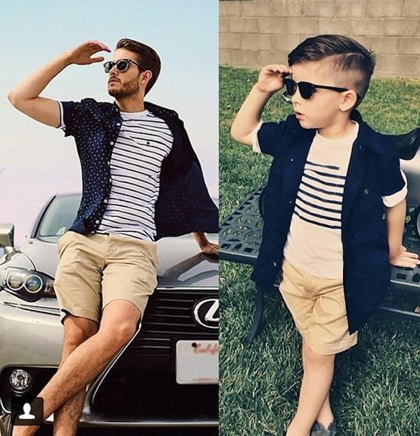 moda infantil pai e filho