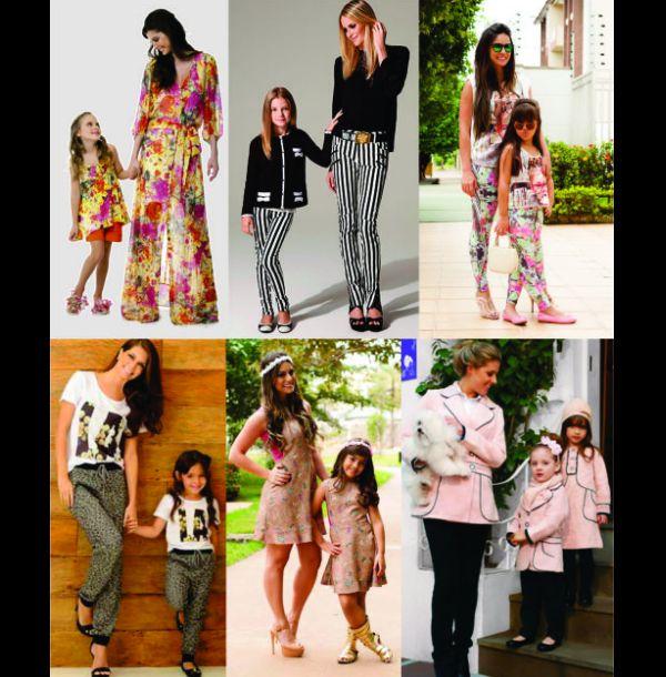 moda infantil mae e filhos