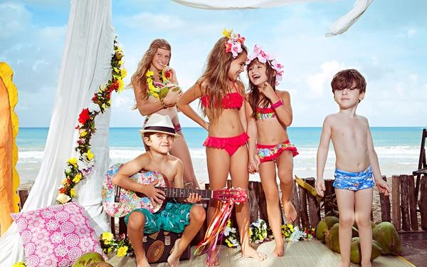 moda infantil praia