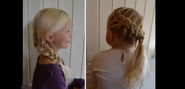 penteado com trança infantil lateral