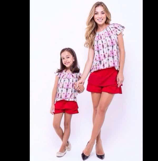 moda infantil mae e filha