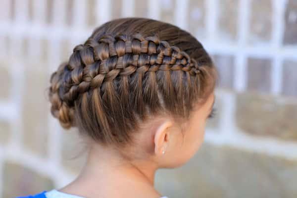 penteado com trança infantil fashion