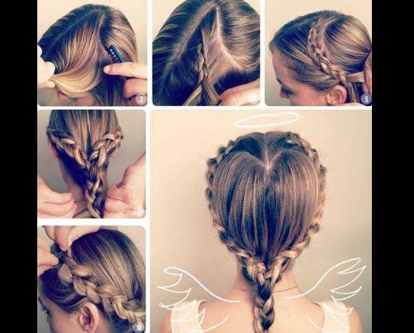 penteado com trança infantil como fazer