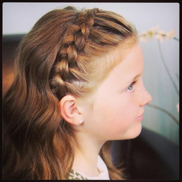 penteado com trança infantil tiaras